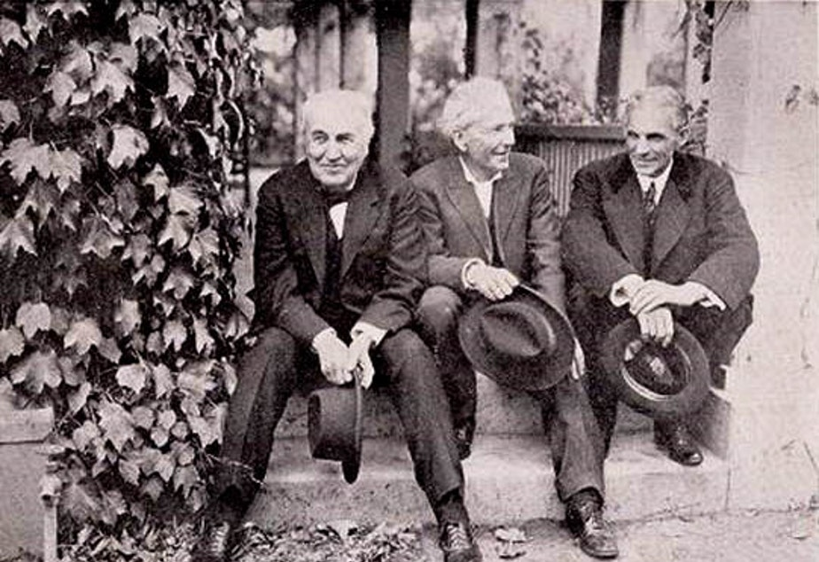 From left, Thomas Edison, Luther Burbank and Henry Ford. Two are still world-famous; the guy in the middle brought us the Himalayan blackberry that is invading your backyard.