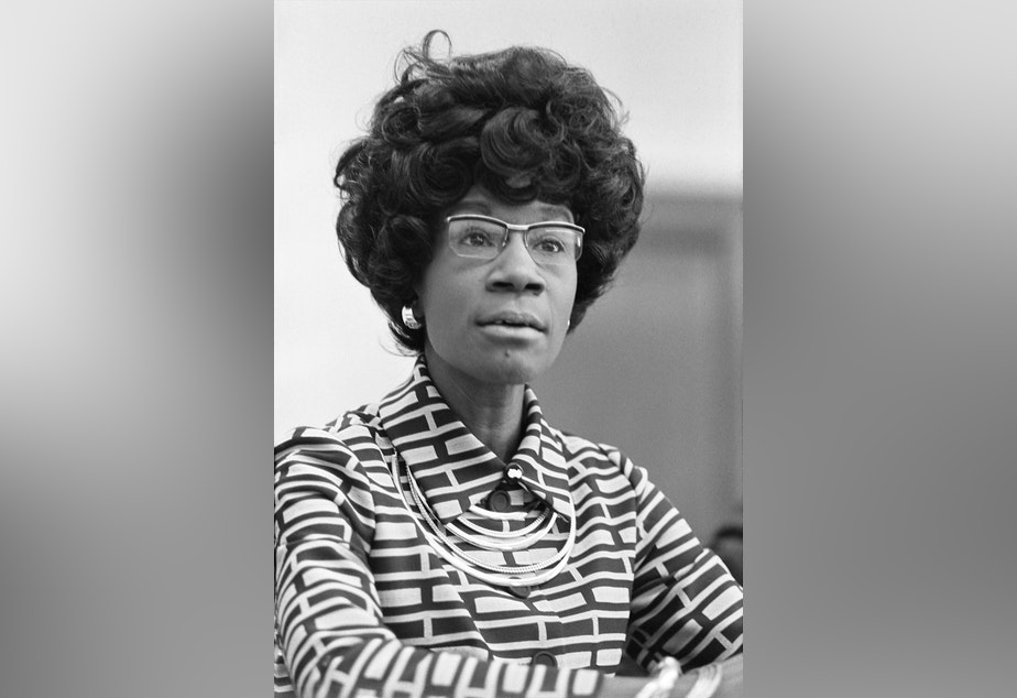 caption: Rep. Shirley Chisholm was the first African-American woman elected to Congress