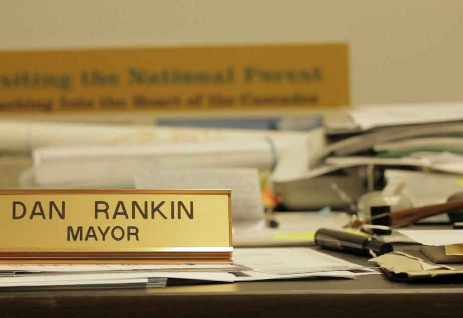 Darrington Mayor Dan Rankin's desk.
