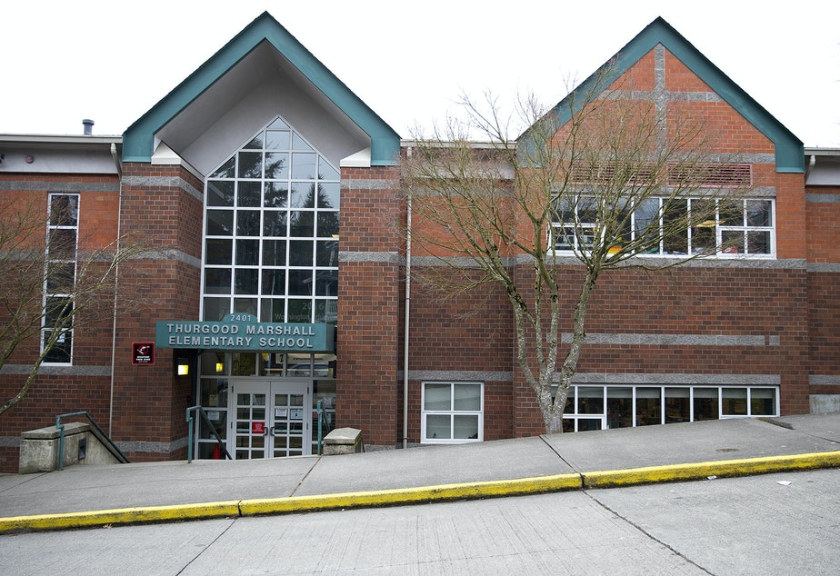 Thurgood Marshall Elementary School is shown on Thursday, March 14, 2019, in Seattle.