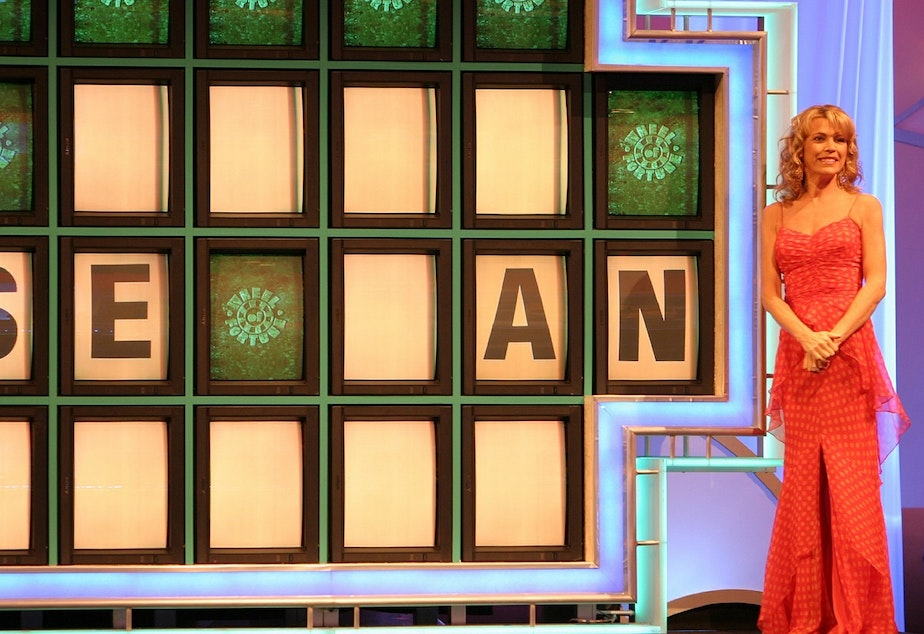 caption: Vanna White has been a presenter on Wheel of Fortune for nearly 40 years.