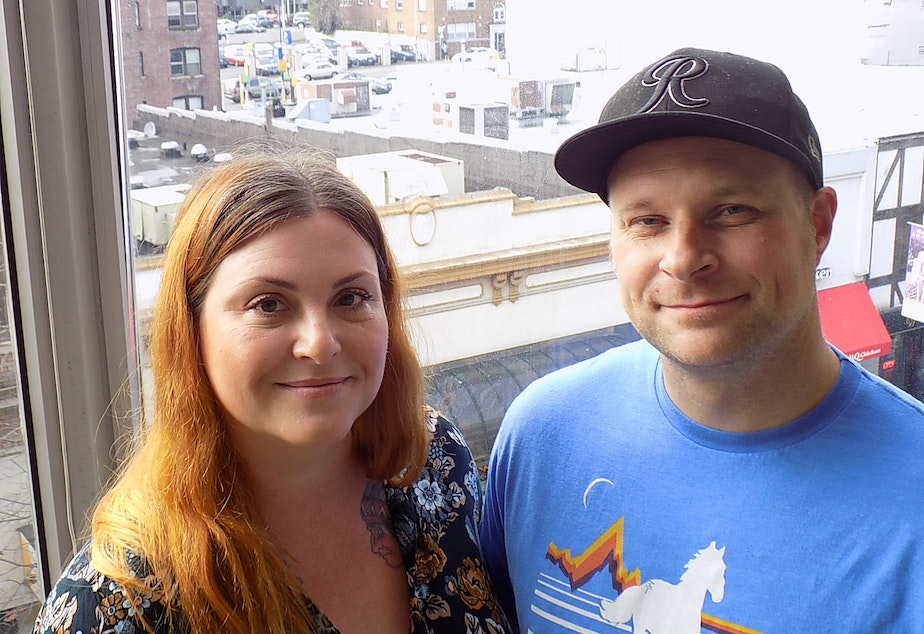 caption: Dana and Dave Verellen fled Seattle for Tacoma.