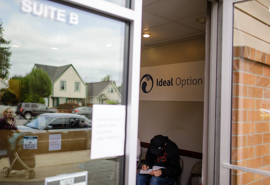 A patient waits inside Ideal Option clinic in Everett, Washington. (Finding Fixes)