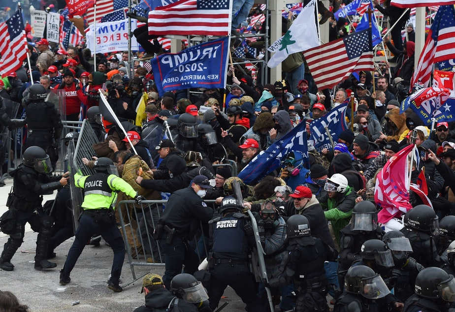 "caption: When law enforcement failed to anticipate that pro-Trump supporters would devolve into a violent mob they fell victim to what one expert calls ""the invisible obvious."" He said it was hard for authorities to see that people who looked like them could want to commit this kind of unconstitutional violence."