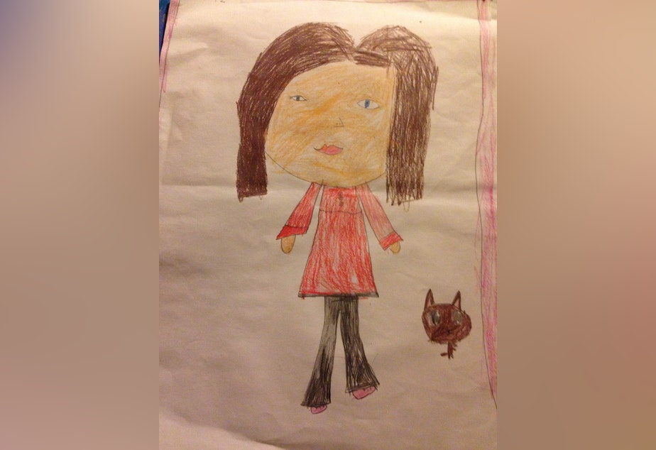 A drawing by Bridget, who came out as trans when she was four years old.