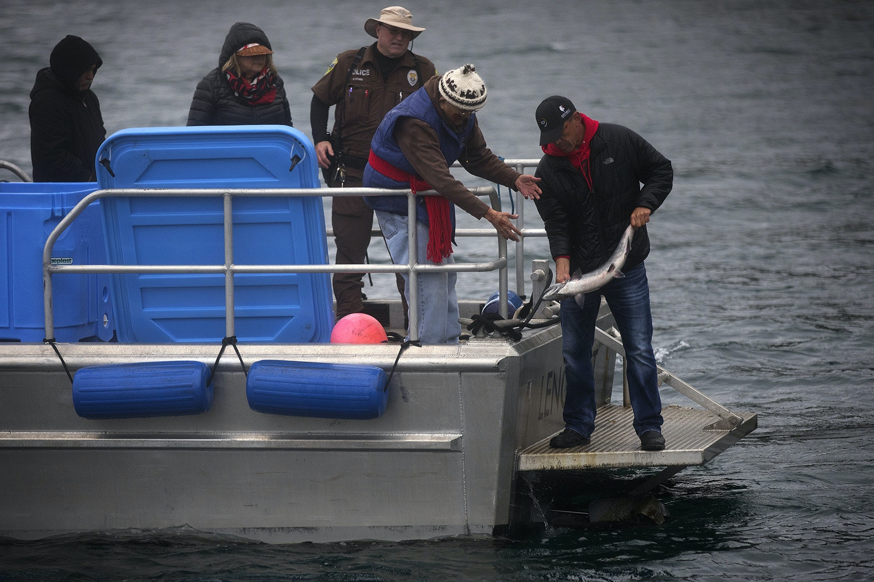 'Our relatives under the water.' Lummi release salmon to ailing orcas