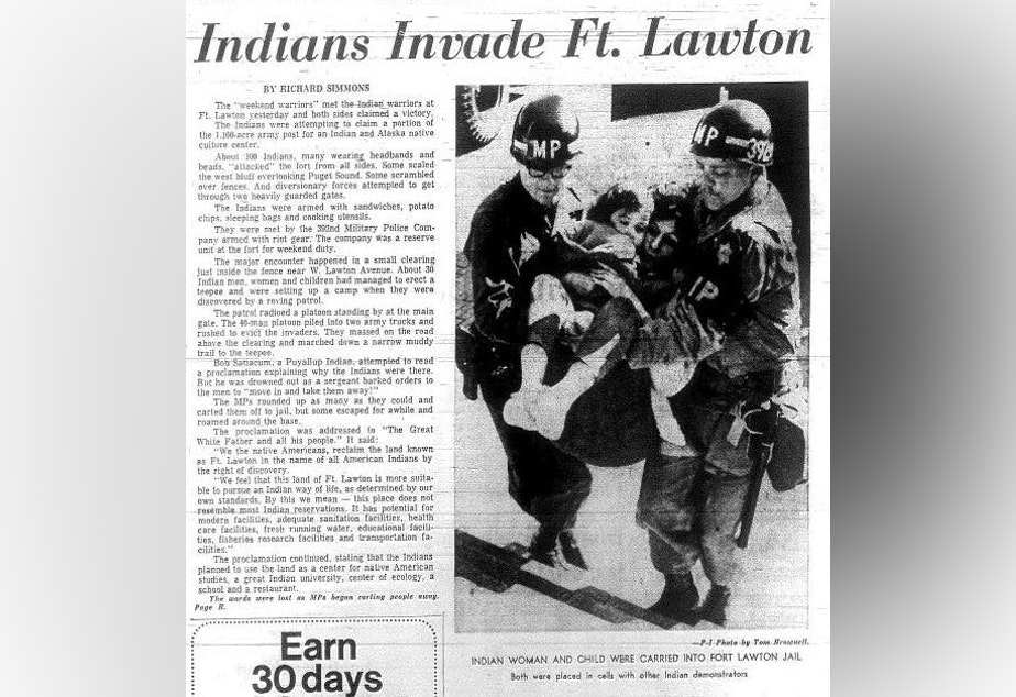 Front page of the Seattle Post-Intelligencer newspaper on March 9, 1970.