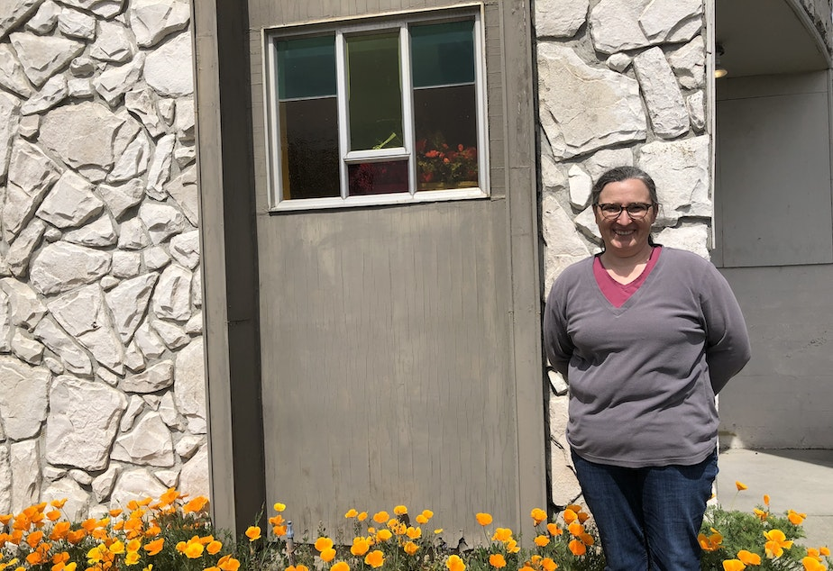"""caption: Reverend Jenny Partch at Highline United Methodist Church said thanks to LEAD, """"folks are getting help with addiction and mental health,"""" but housing remains scarce."""