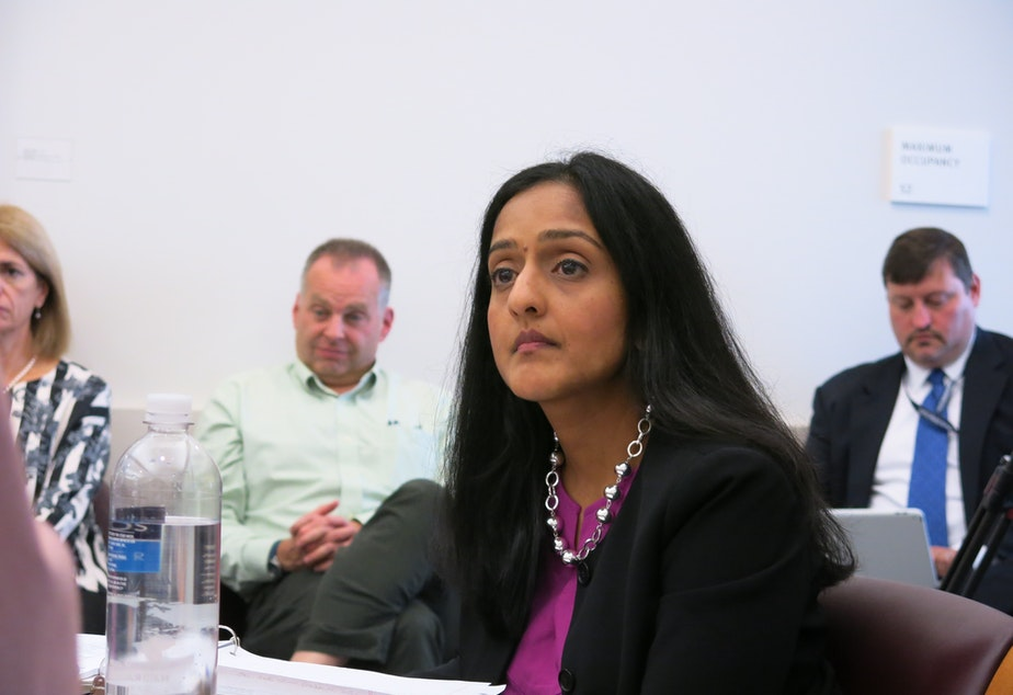 caption: Assistant Attorney General Vanita Gupta hears from the Seattle Community Police Commission.