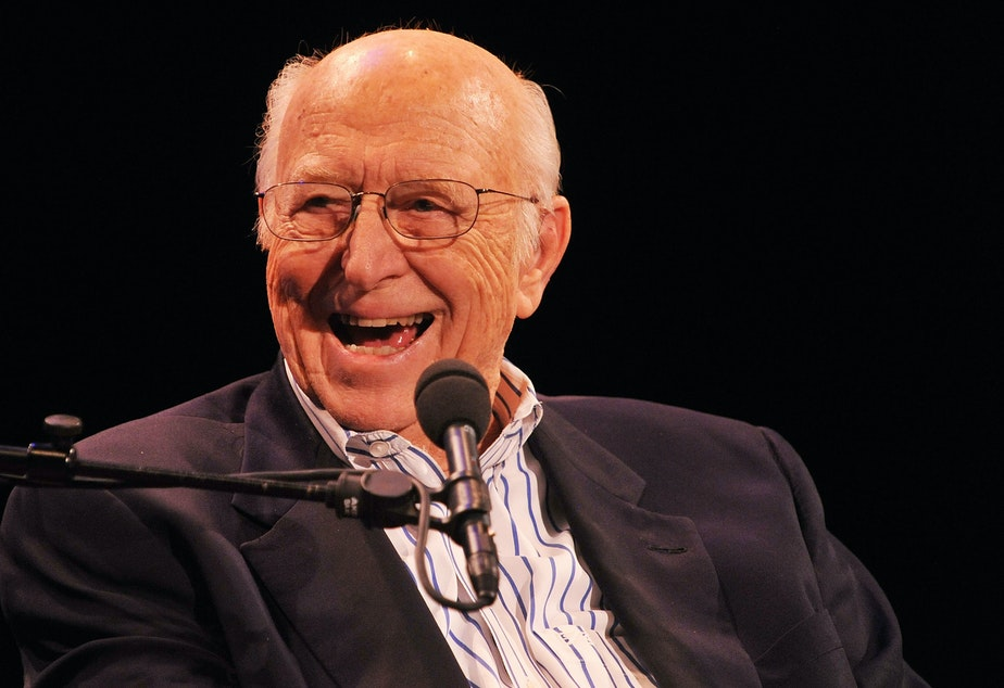 """caption: Bill Gates Sr. attends """"Bill Gates: A Conversation with My Father"""" in New York City in June 2010."""