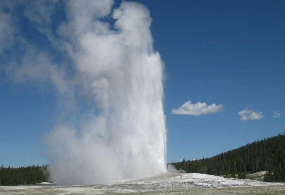 caption: Geyser drama.