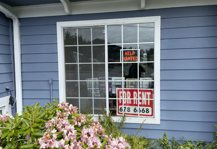 caption: The Coupeville Inn survived the pandemic by laying off staff and renting out a couple of its rooms as apartments. Now that its rooms are filling up again, it faces a different problem: A severe staff shortage.