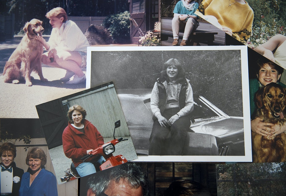 caption: Family photographs of Tanya van Cuylenborg are arranged in a collage. Photos courtesy of John van Cuylenborg.