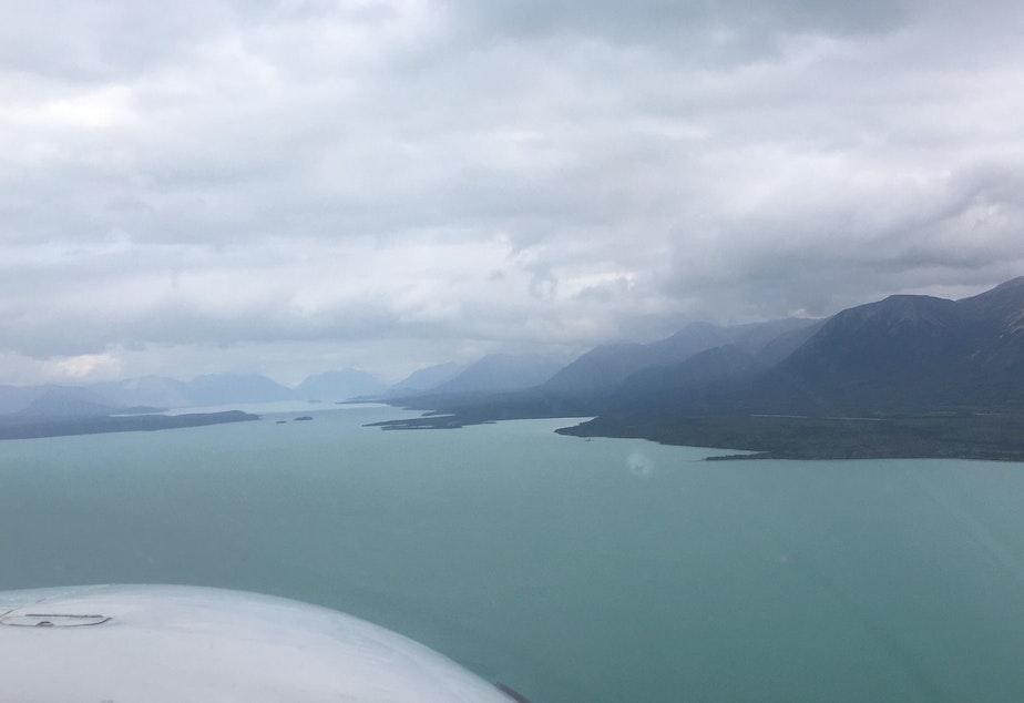 caption: Lake Iliamna, Alaska