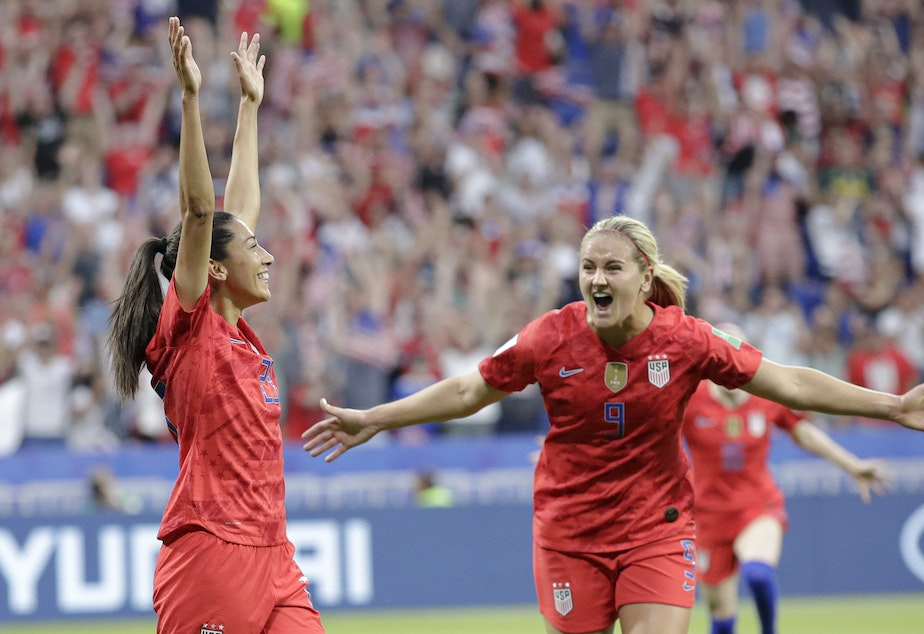 KUOW - U S  Powers To Women's World Cup Final After