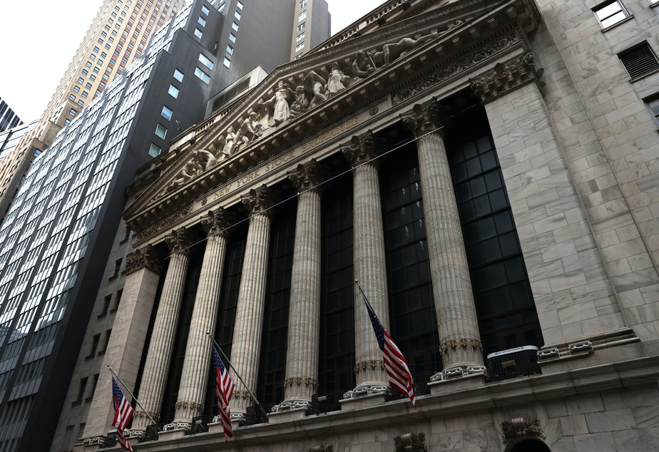 caption: U.S. stocks indexes fell for a third session in a row Tuesday as tech shares continued to tumble.