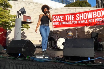Seattle-based SassyBlack was one of six acts that performed for the #SaveTheShowbox concert.