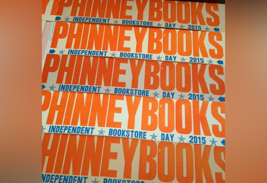 Bookmarks commemorating Phinney Books for this year's Independent Bookstore Day.