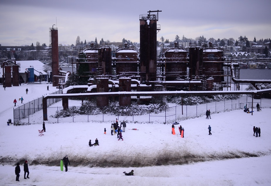 Gas Works Park in Seattle's Wallingford neighborhood, on Saturday, Feb. 10, 2019.