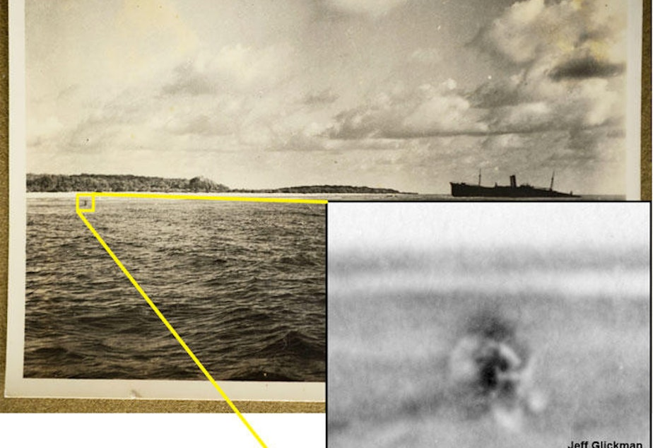 Forensic analysis has focused on the object at the left of this 1937 photo taken by British colonial officer Eric Bevington.