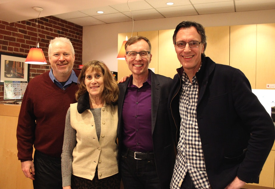 Today's panel: Mike McGinn, Joni Balter, Rob McKenna and host Bill Radke