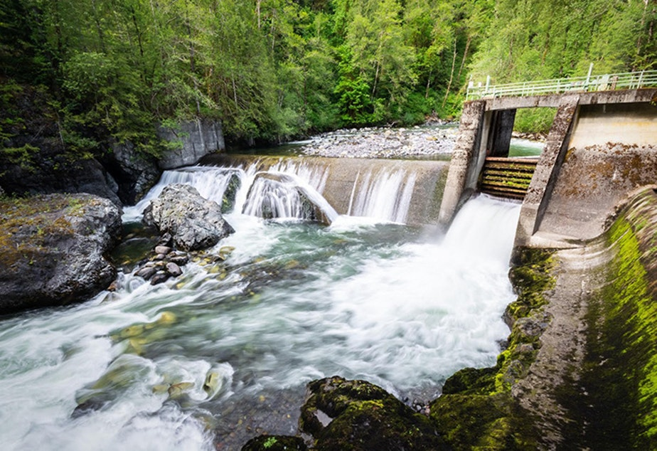 caption: The  Middle Fork Nooksack Dam.