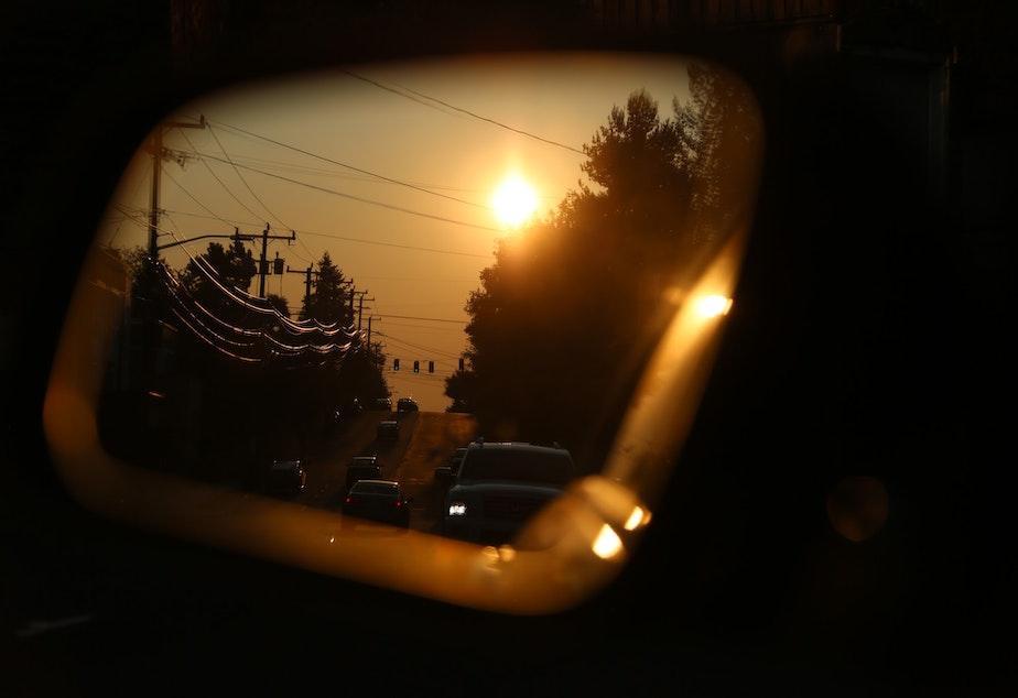 caption: Sunset in Seattle September 10, 2020