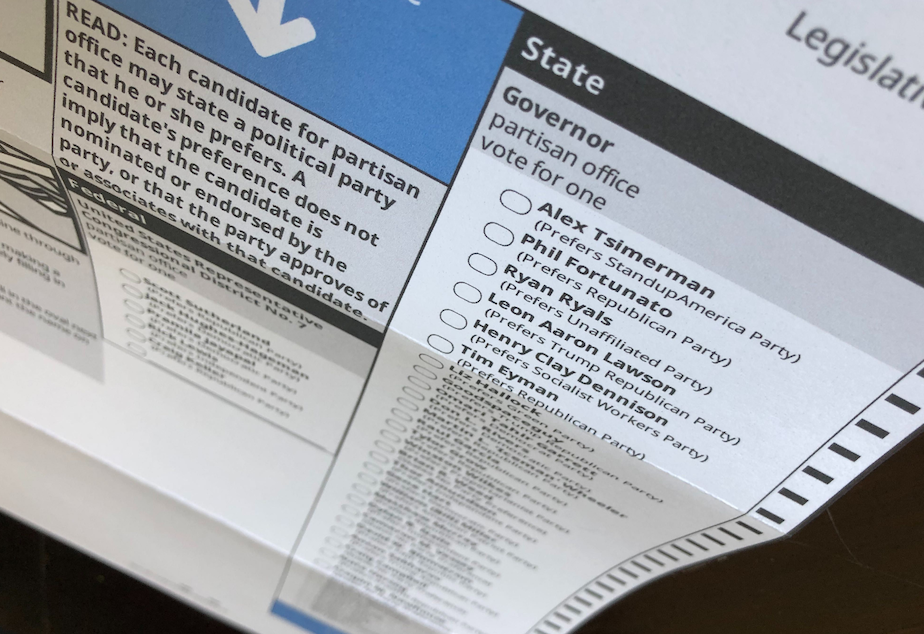 caption: The 2020 August primary ballot features 36 candidates for governor.
