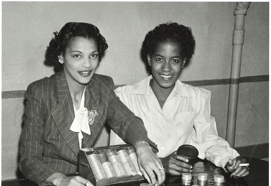 A gambling table at the Black and Tan, around 1944. (To help us ID these women, note the photo number. This is #13.)