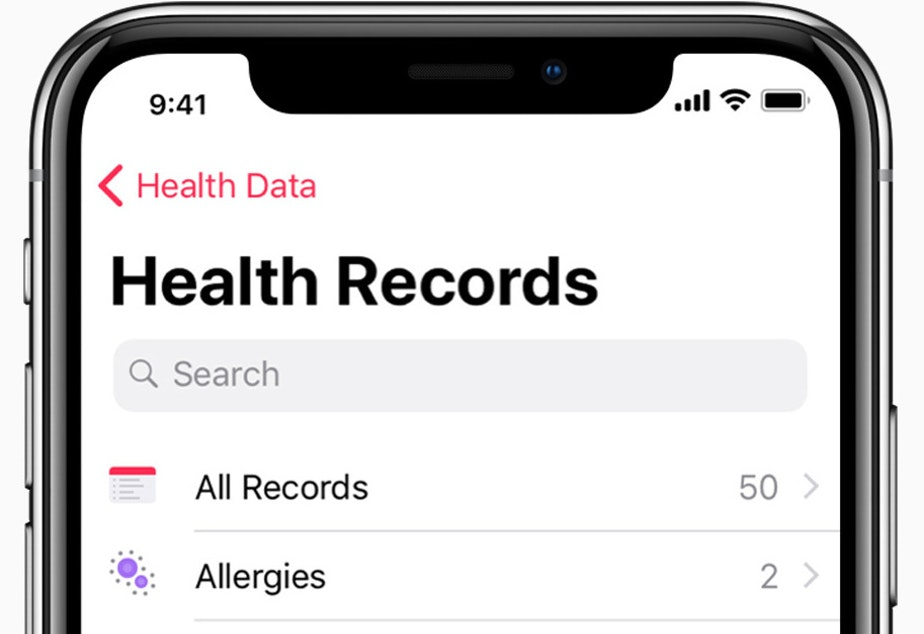 Hundreds of health care providers around the country allow their clients to use the Apple Health app to store their medical records.