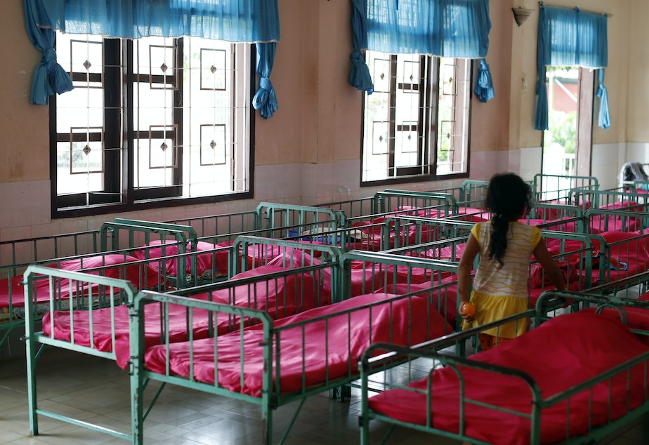 caption: The dormitory in an orphanage in Vietnam.