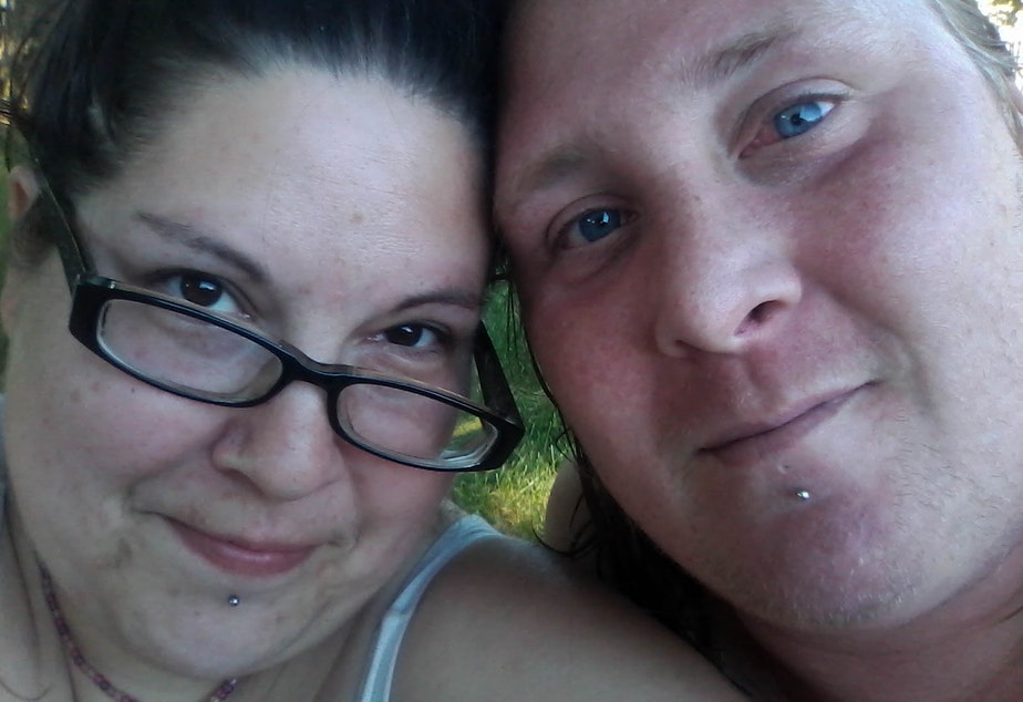 Carmen and Robert Patterson have lived in the Jungle, a homeless encampment in Seattle, on and off since 2011. They and several others who live in the Jungle shared photos, stories and text messages with us.