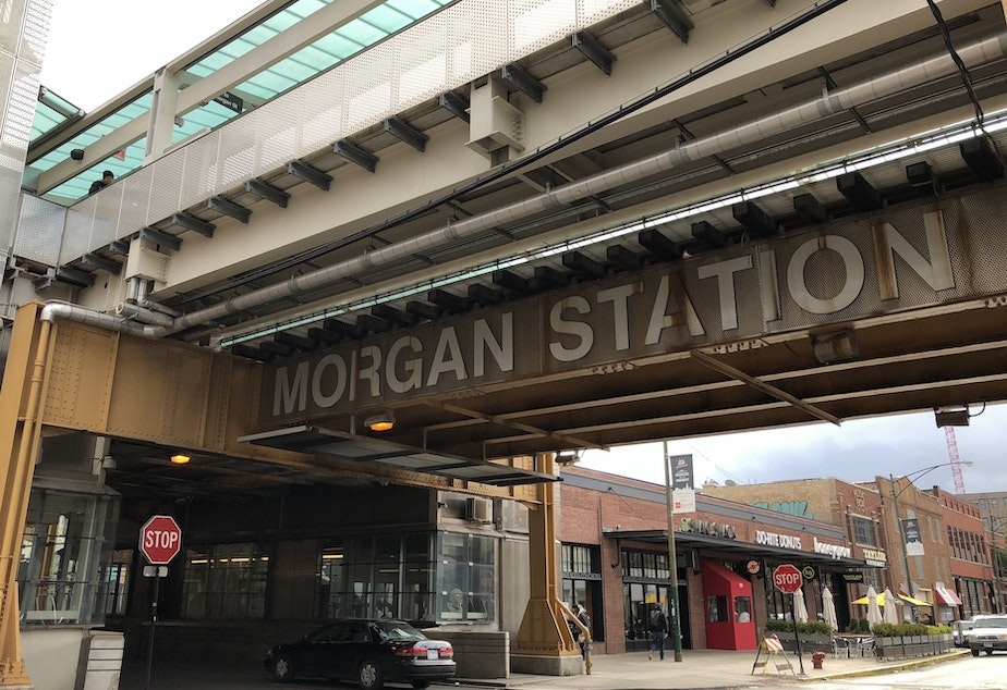 "Chicago Transit Authority's new Morgan St. ""L"" station."