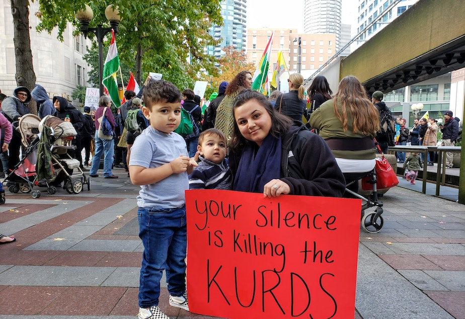 caption: Delvene Saeed's family is originally from Turkey where she fears the government will start targeting Kurds living within the country.