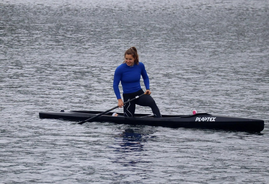 caption: Seattle native Nevin Harrison will compete at the Tokyo Olympics in canoe sprint.