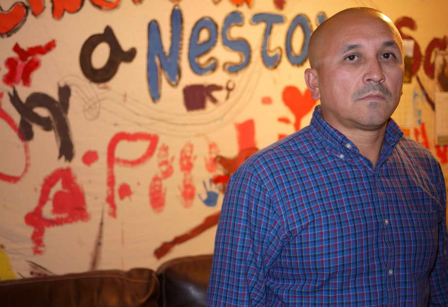 José Luis Avila, of Renton, is fighting for the release of his wife Nestora Salgado from Mexico.