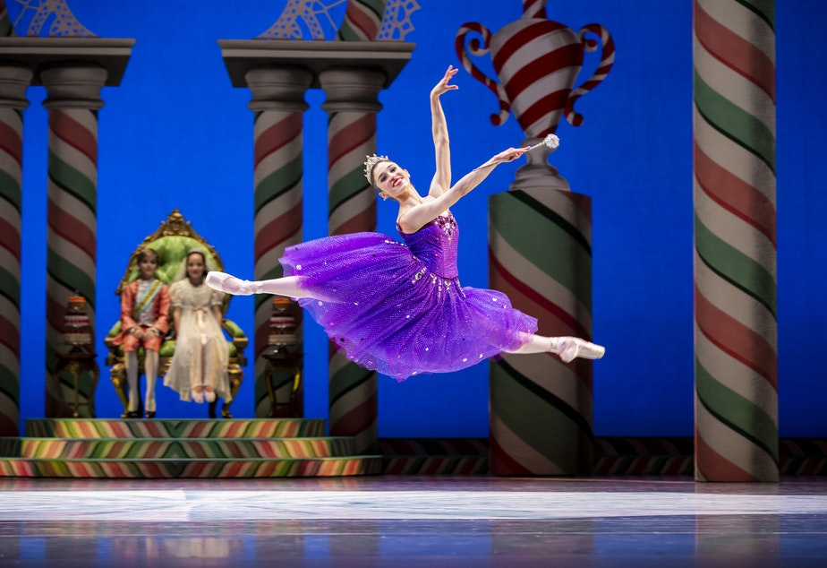 "Pacific Northwest Ballet Principal Dancer Leta Biasucci as the Sugar Plum Fairy in George Balanchine's ""The Nutcracker"""