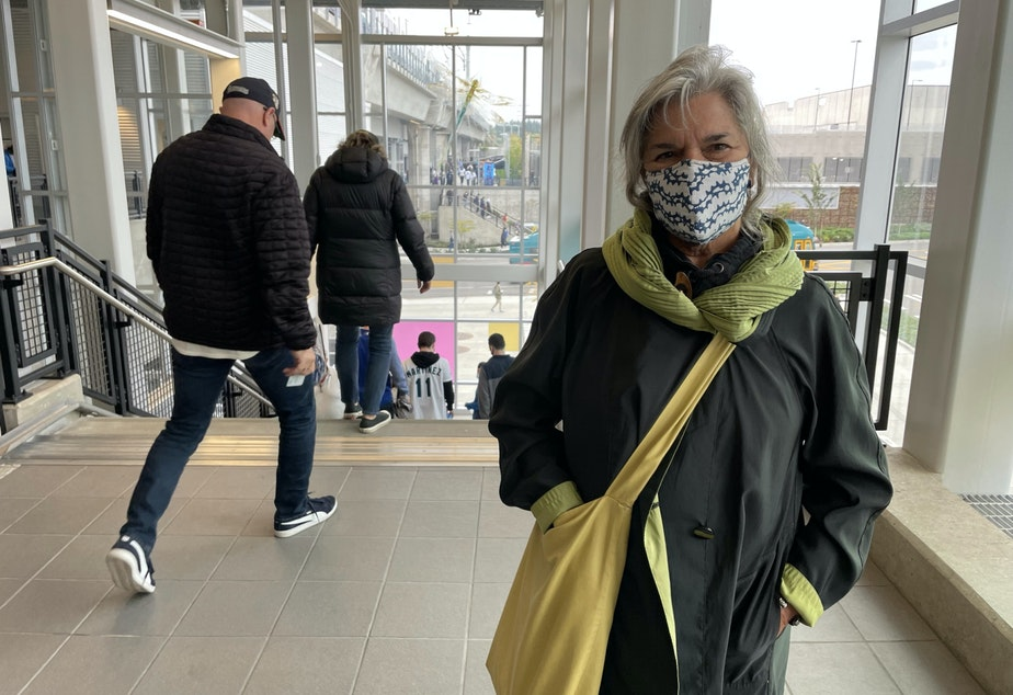 caption: Mary Ann Peters at Northgate Station
