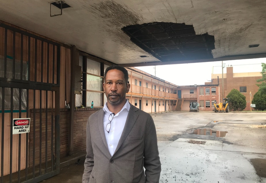 Historian and Preservationist Brent Leggs guides host Manoush Zomorodi through the A.G. Gaston Motel in Birmingham, Alabama. The motel stood at the center of several significant chapters of the Civil Rights movement.