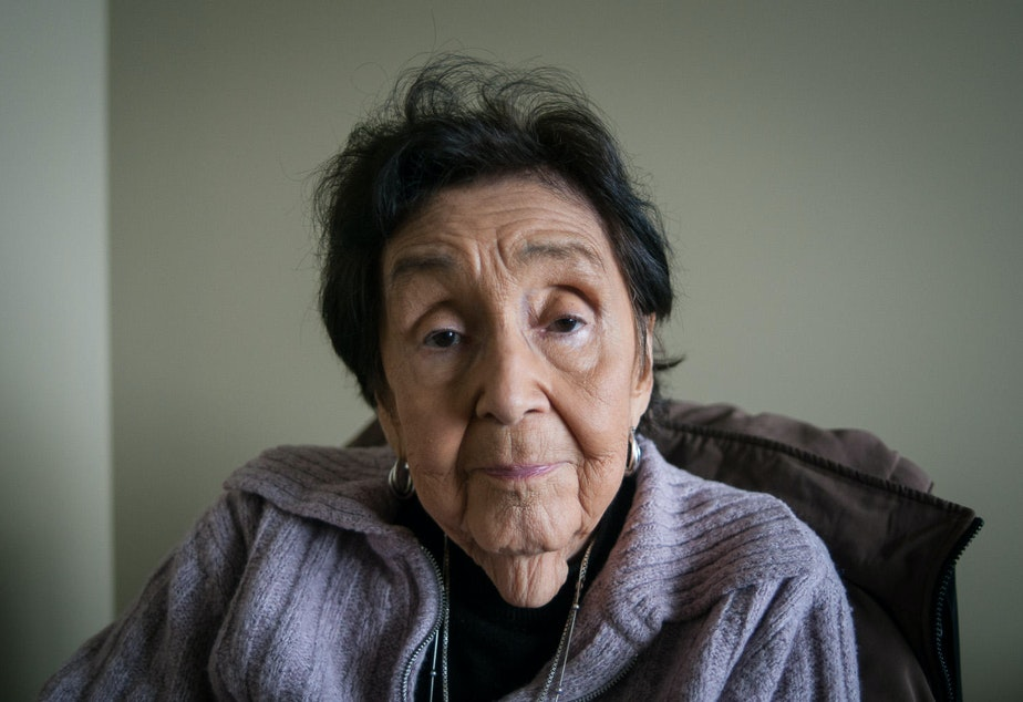 caption: Lummi elder Ramona Morris has lived on the reservation near Bellingham, Wash., her whole life. To her, salmon is more than food: it's a way of life.