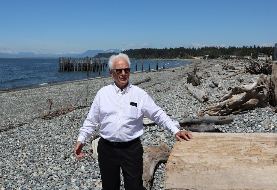 caption: Point Roberts Chamber of Commerce President Brian Calder.