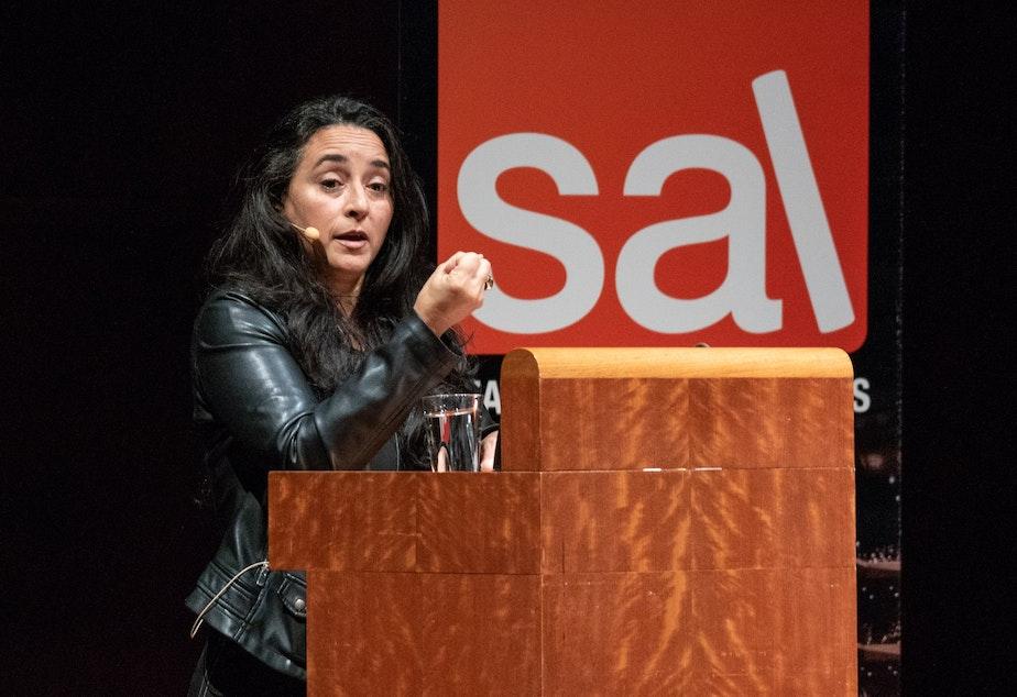 Author and activist Soraya Chemaly at SAL Benaroya Hall event.