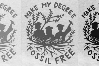 One of the slogans of Seattle University's divestment activists