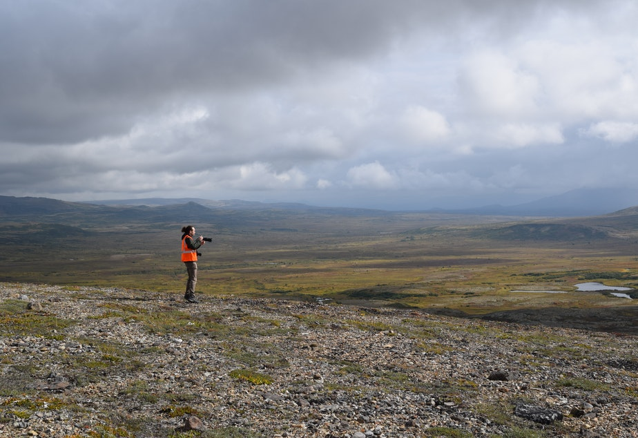 Photojournalist Alex Milan Tracy at the site of the proposed Pebble mine in southwestern Alaska