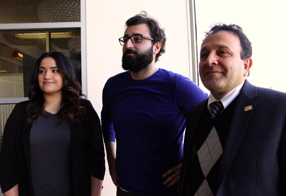 caption: Arshiya Chime, Omid Bagheri, and Hossein Khorram