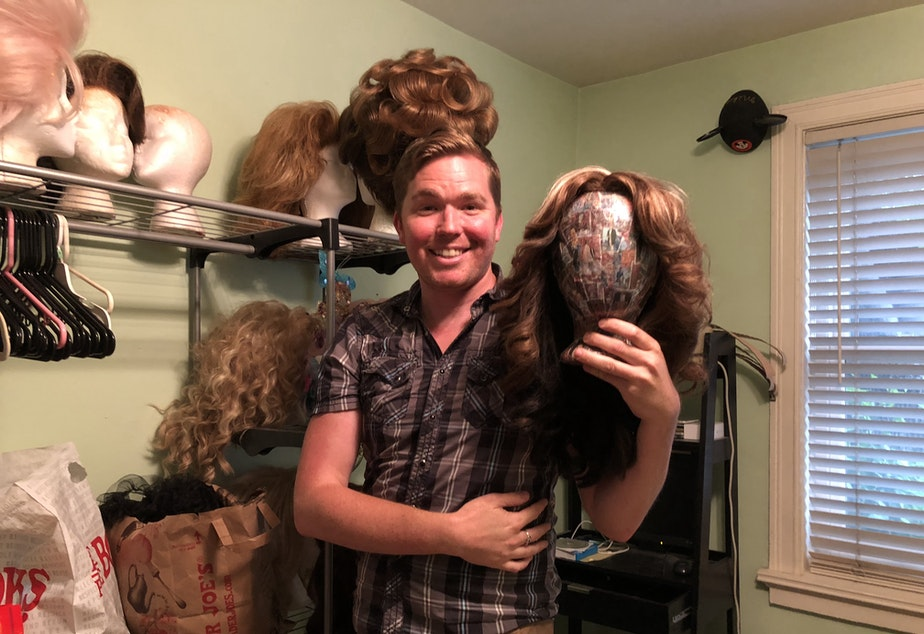 caption: A sneak peek into the closet of DonnaTella Howe, who tells us what it's like to be a drag queen in this podcast.