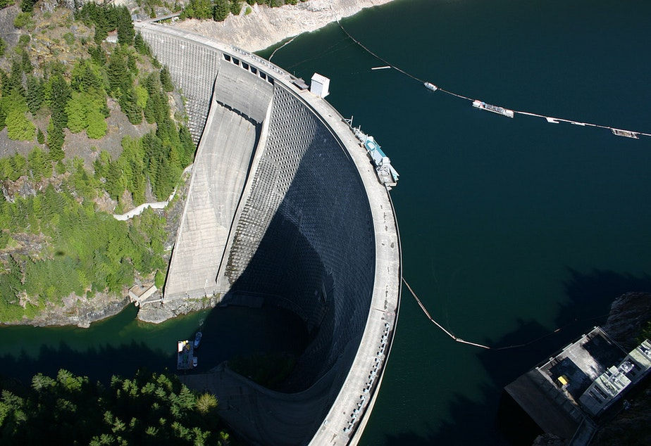 Ross Dam on the Skagit River is one of Seattle City Light's major power generation sites.