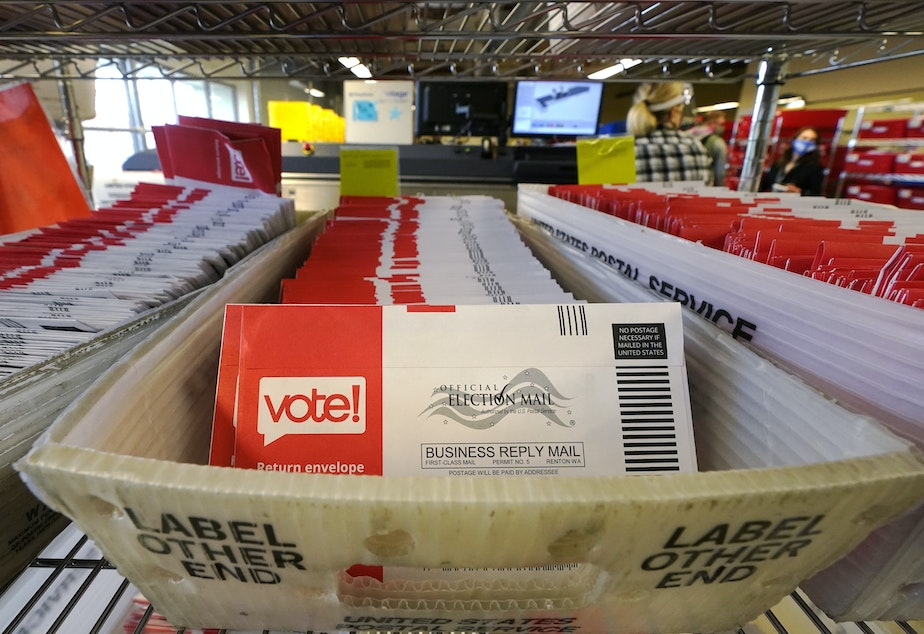 caption: The U.S. Postal Service says it has already handled 100 million election ballots this year.
