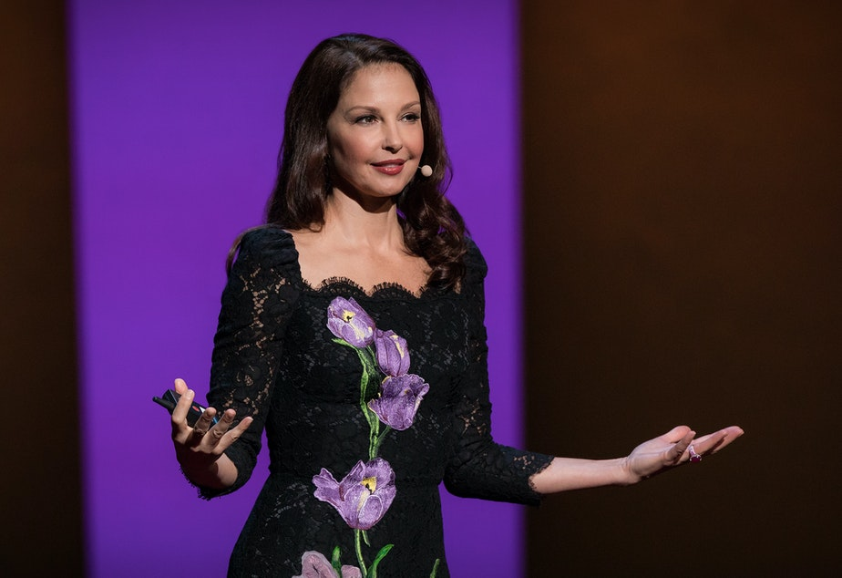 Ashley Judd on the TED stage.