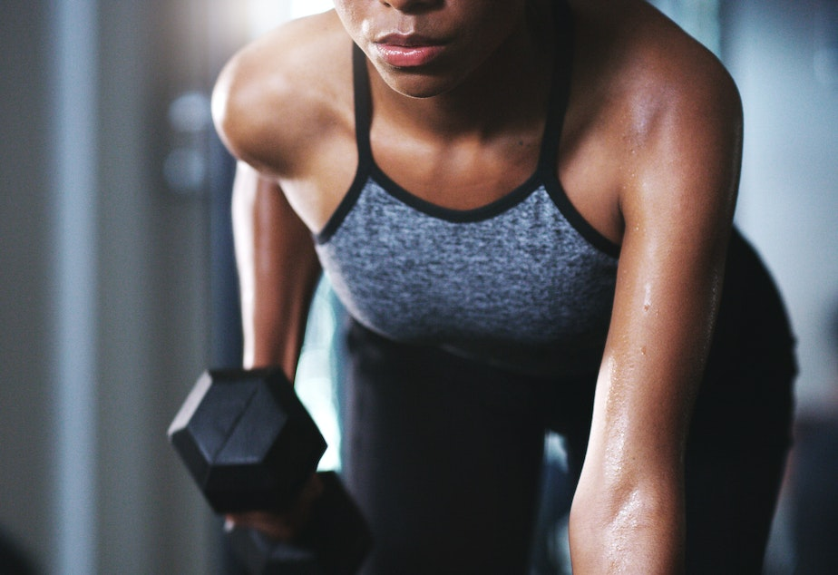 caption: Weight lifting or other forms of strength training is a smart addition to your exercise routines. It helps stave off chronic illness and can help manage weight gain.